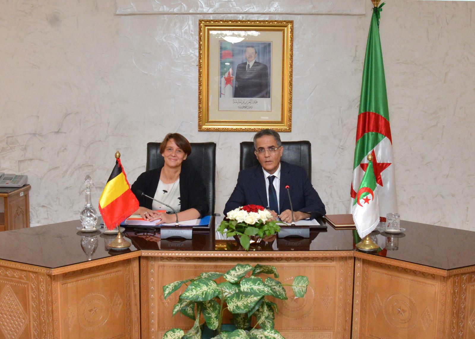 Une d l gation du minist re de l 39 int rieur belge a for Ministere exterieur algerie