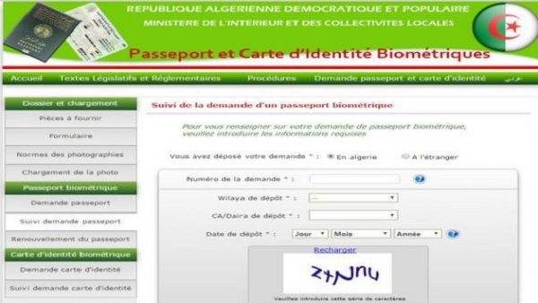 Le processus d\'inscription relatif aux documents biométriques se ...